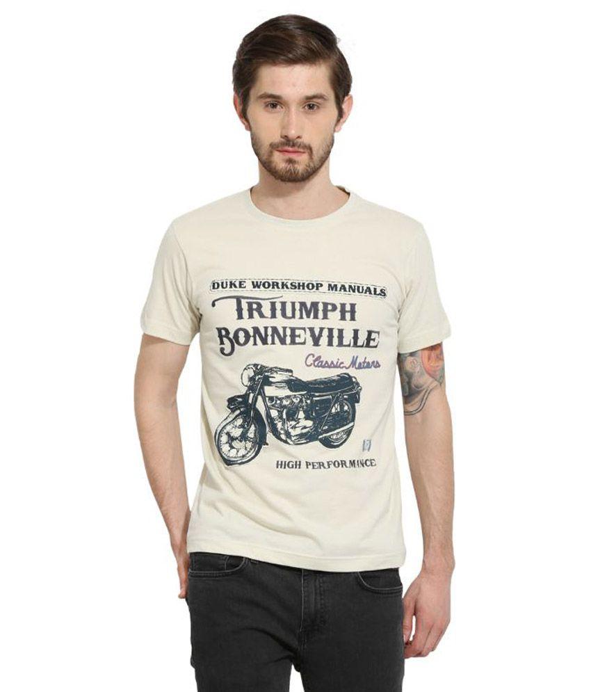 Duke Off-White Round T Shirt