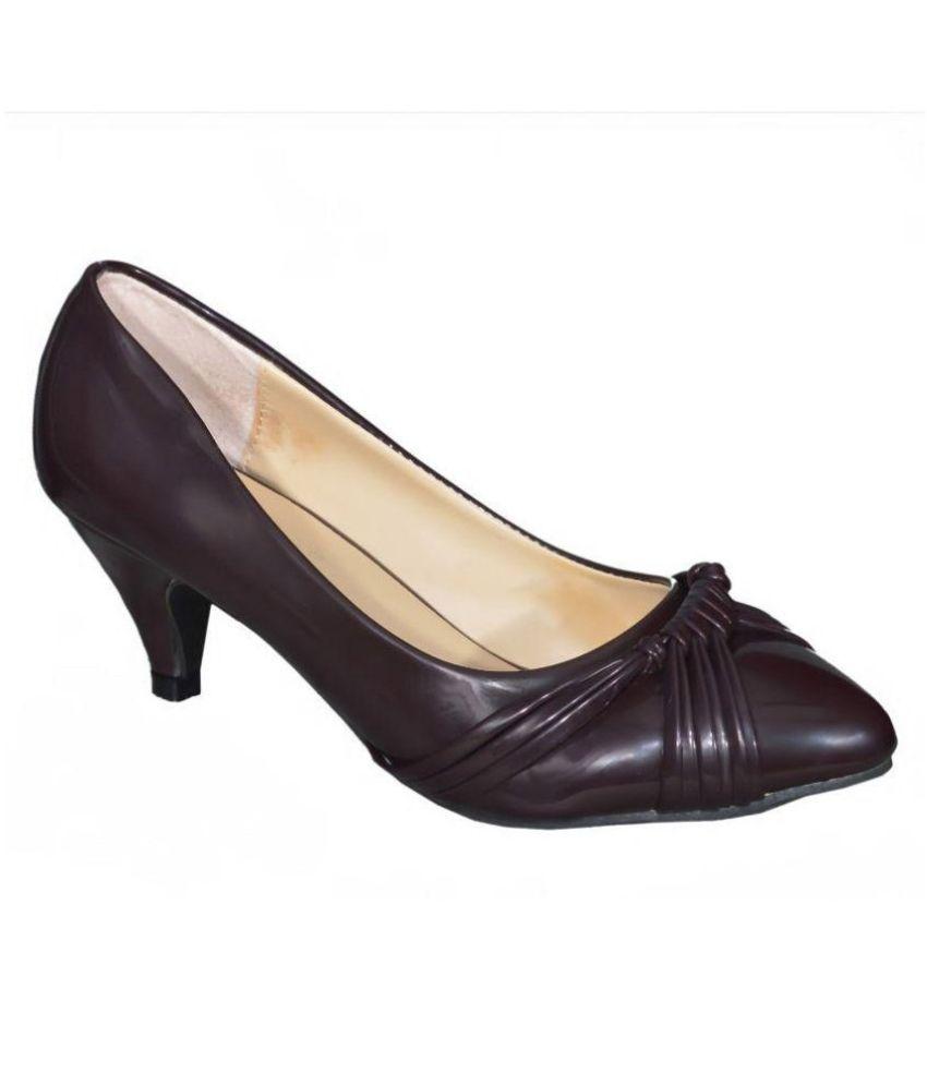Ladela Brown Cone Heels