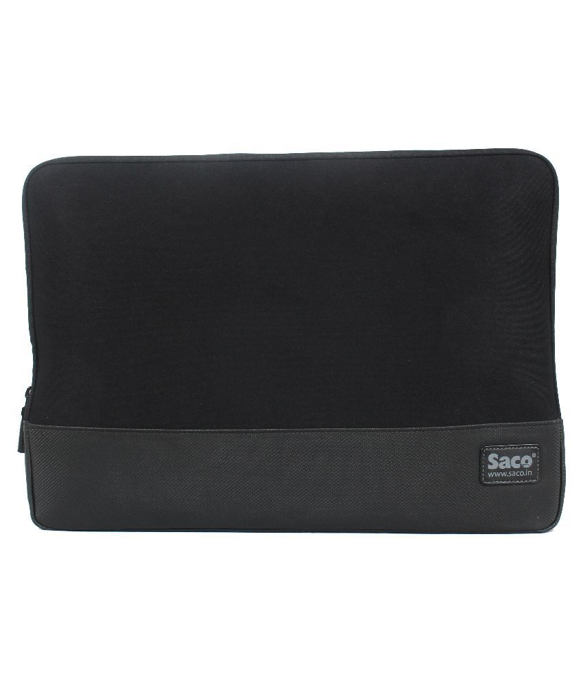 Saco Black Synthetic Laptop Sleeve