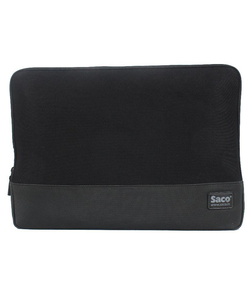 Saco Black Synthetic Laptop Sleeve