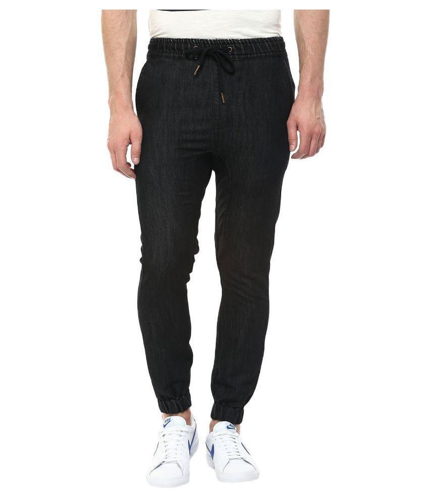 Annai Lakshmi Exports Black Skinny Fit Jogger Jeans