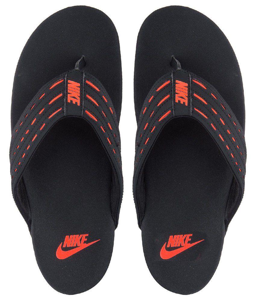 f1b127e1b8d Nike Keeso Thong Black - Total Crimson Flip Flops Price in India- Buy Nike  Keeso Thong Black - Total Crimson Flip Flops Online at Snapdeal
