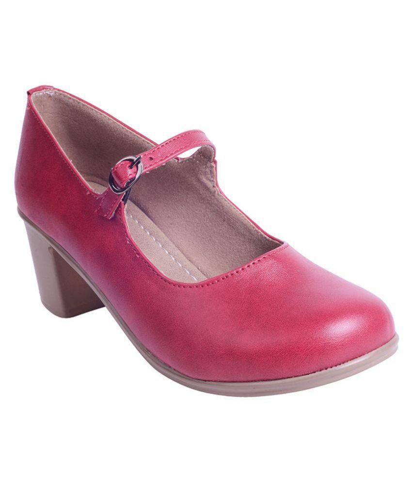 Pearl Pink Block Heels
