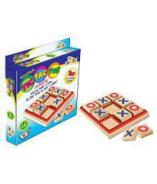Awals Multicolour Wooden Tic Tac Toe Game for Kids