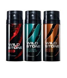 Wild Stone Combo of Red, Night Rider and Hydra Energy (Pack of 3)