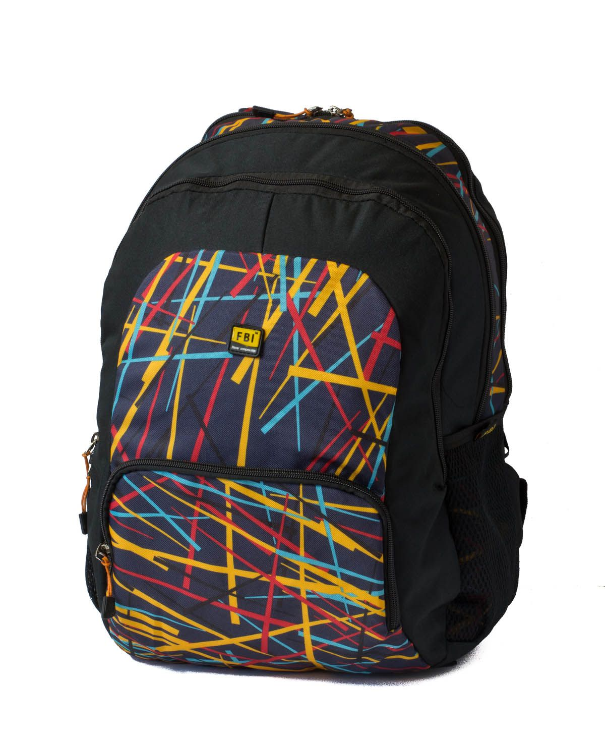 FBI Multi Color 20 Polyester Casual Backpack
