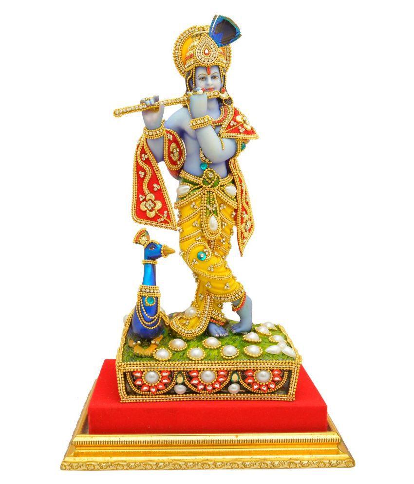Papilon Krishna Marble Idol
