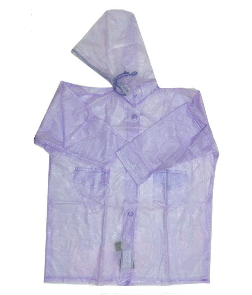 Prince Rainwear Purple Nylon Rainwear for Girls - Pack of 4