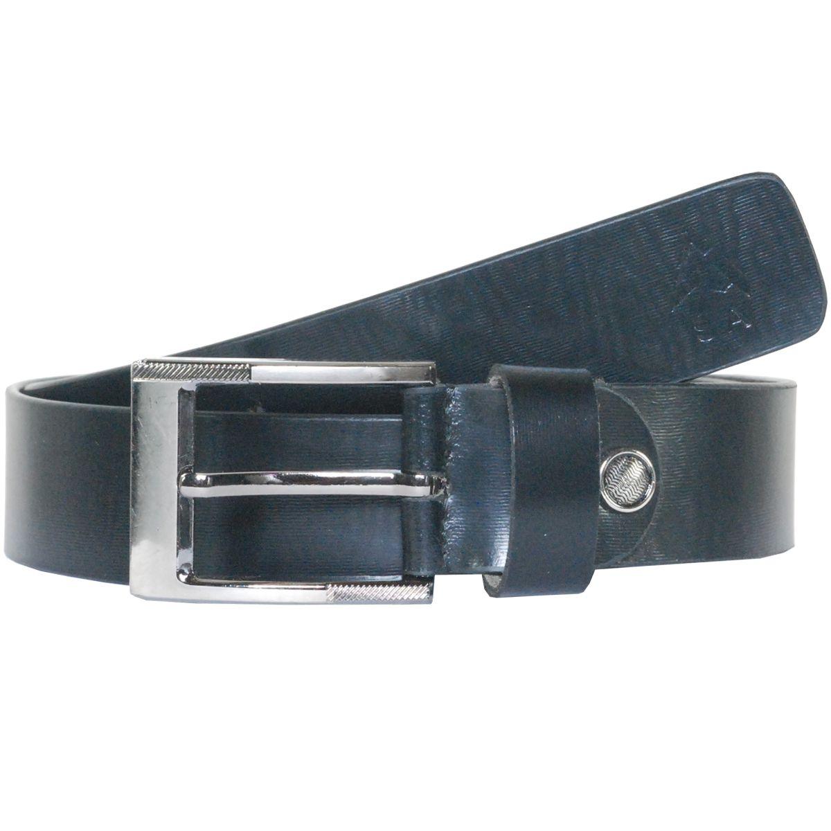 Sondagar Arts Black Leather Belt for Men