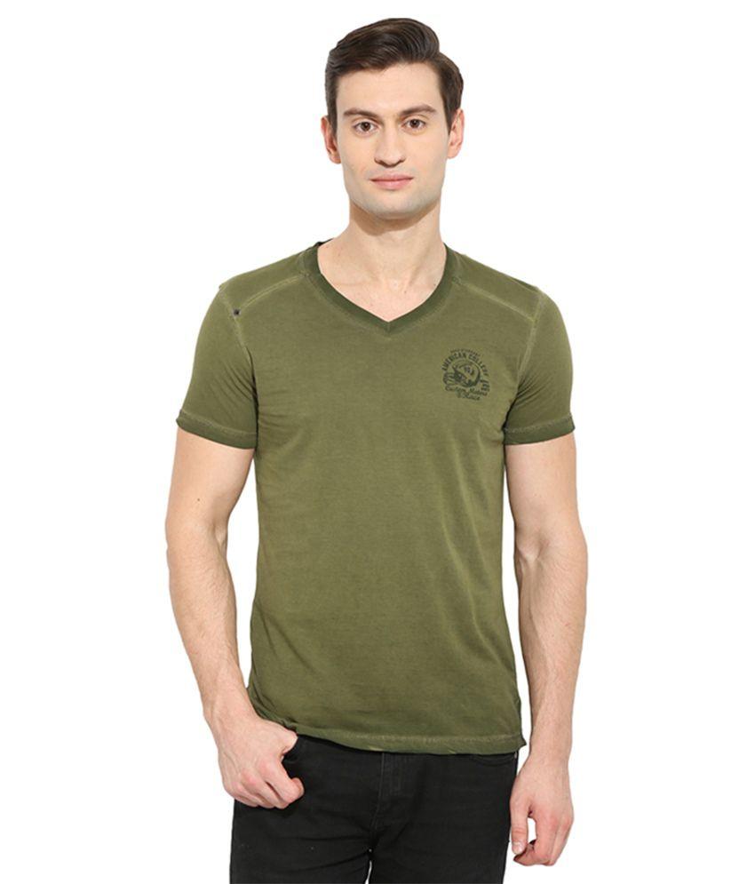 Duke Green V-Neck T Shirt