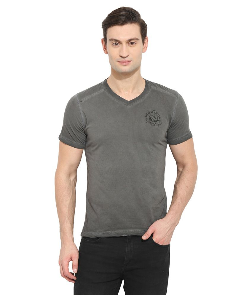 Duke Grey V-Neck T Shirt