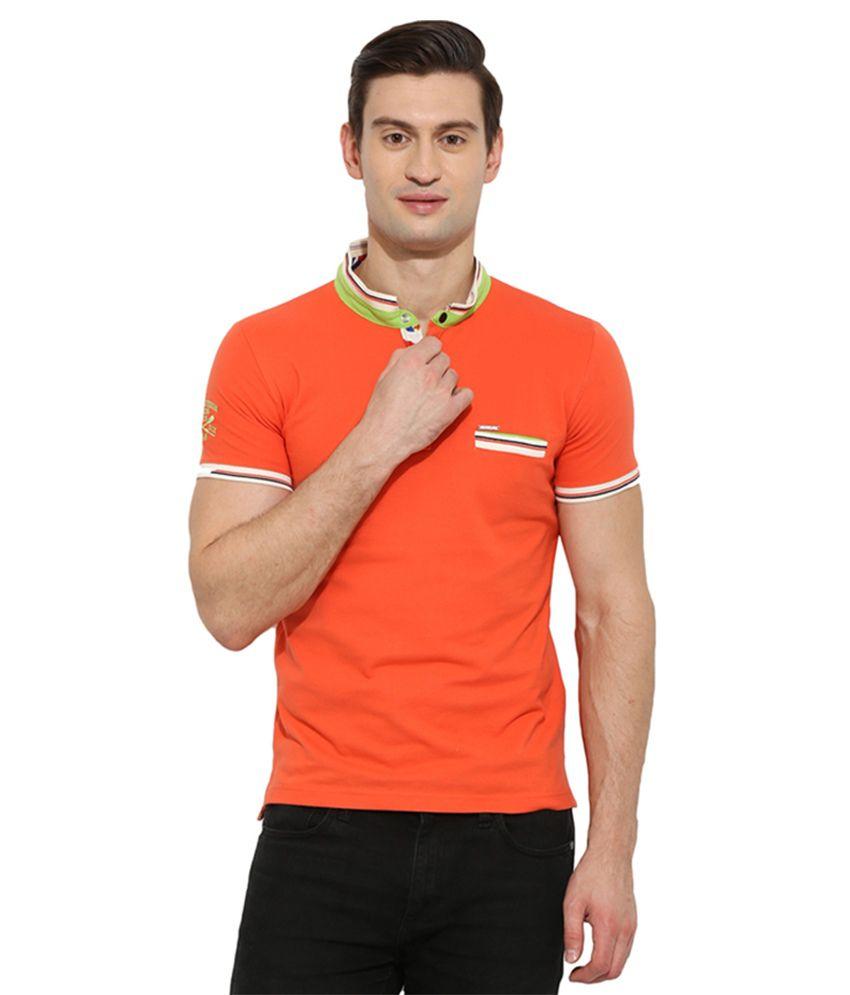 Duke Orange Henley T Shirt