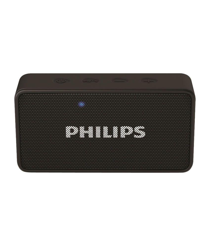 Philips bt64 bluetooth speaker black snapdeal price for Cassa bluetooth philips