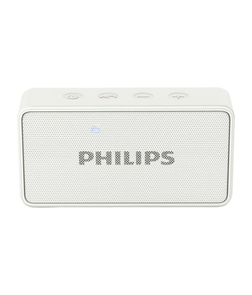 Philips BT64 Bluetooth Speaker - White Sound Box