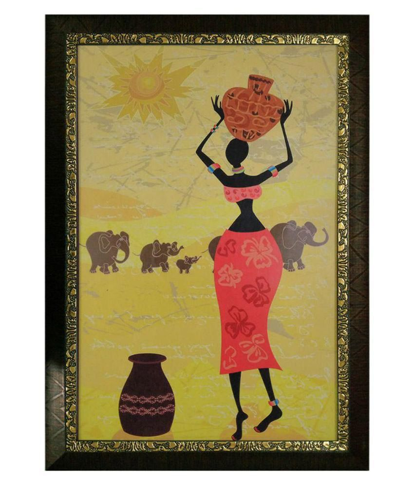 Trends on Wall Textured Pop Art Painting with Acrylic Frame: Buy ...
