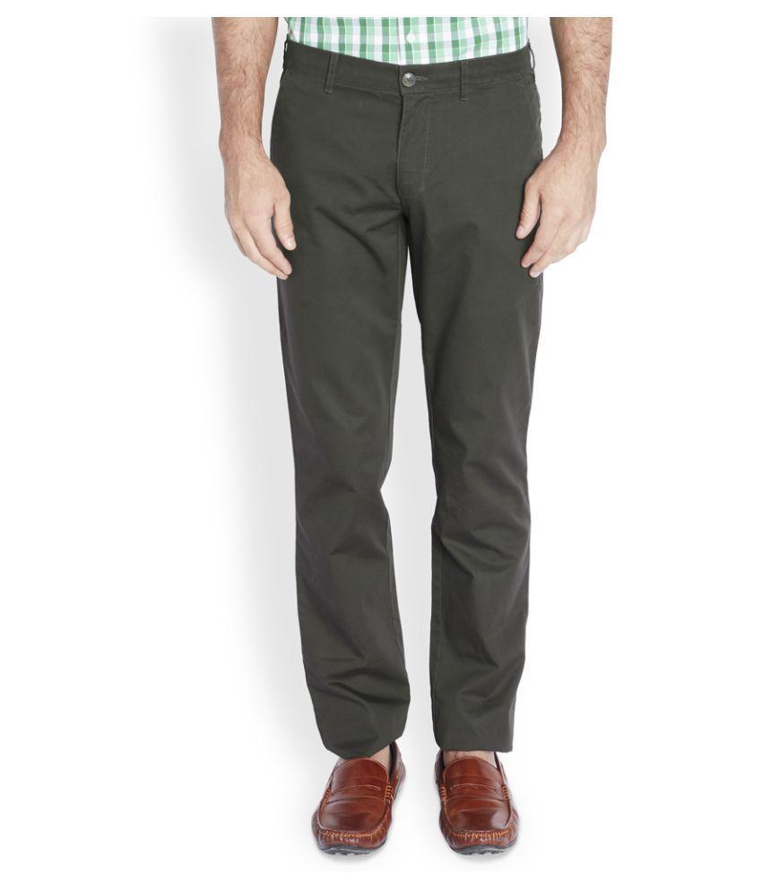 ColorPlus Black Regular Fit Flat Trousers