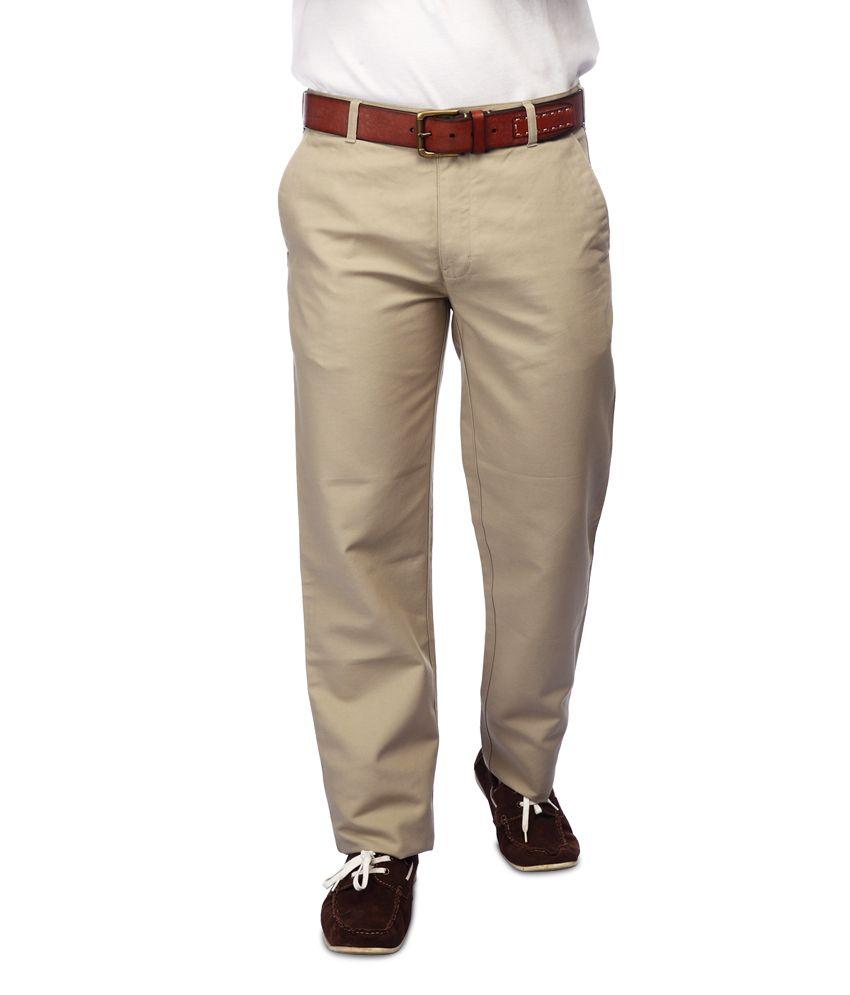 Colorplus Beige Regular Fit Flat Trousers
