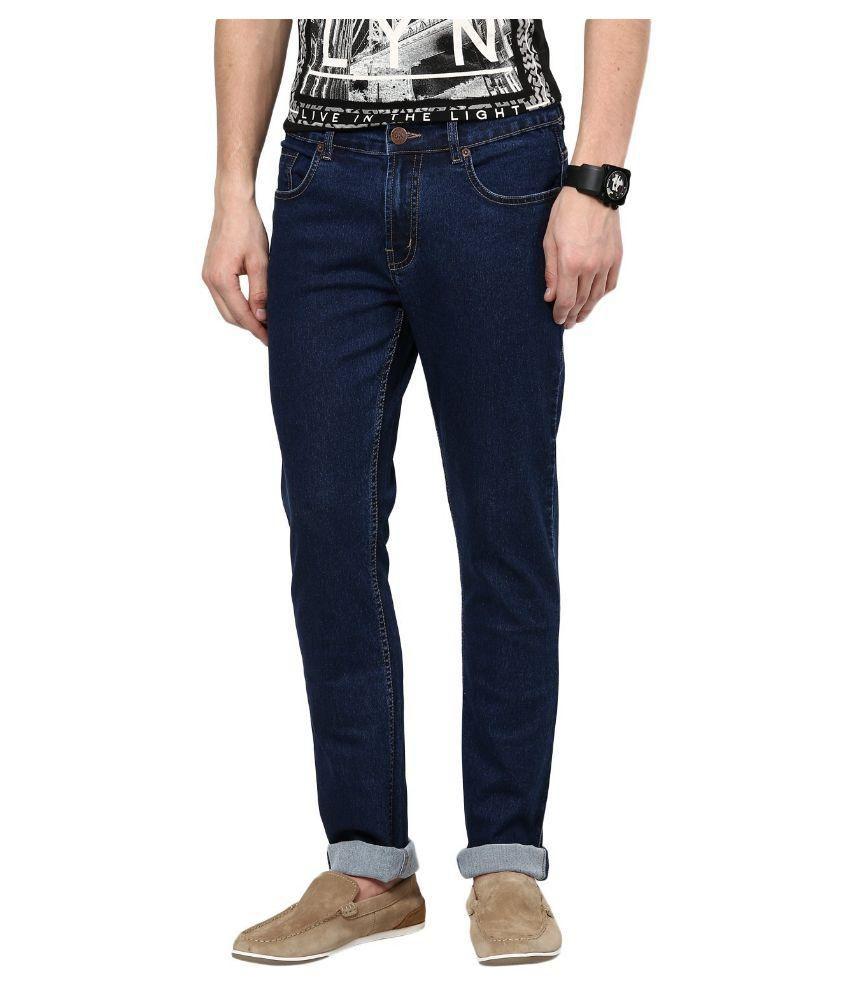 Dtusk Blue Slim Fit Distressed Jeans