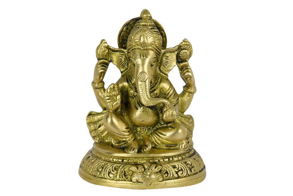 Unbranded Yellow Ganesha Idol