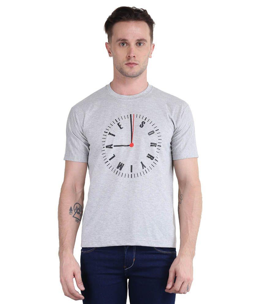 British Terminal Grey Round T Shirt