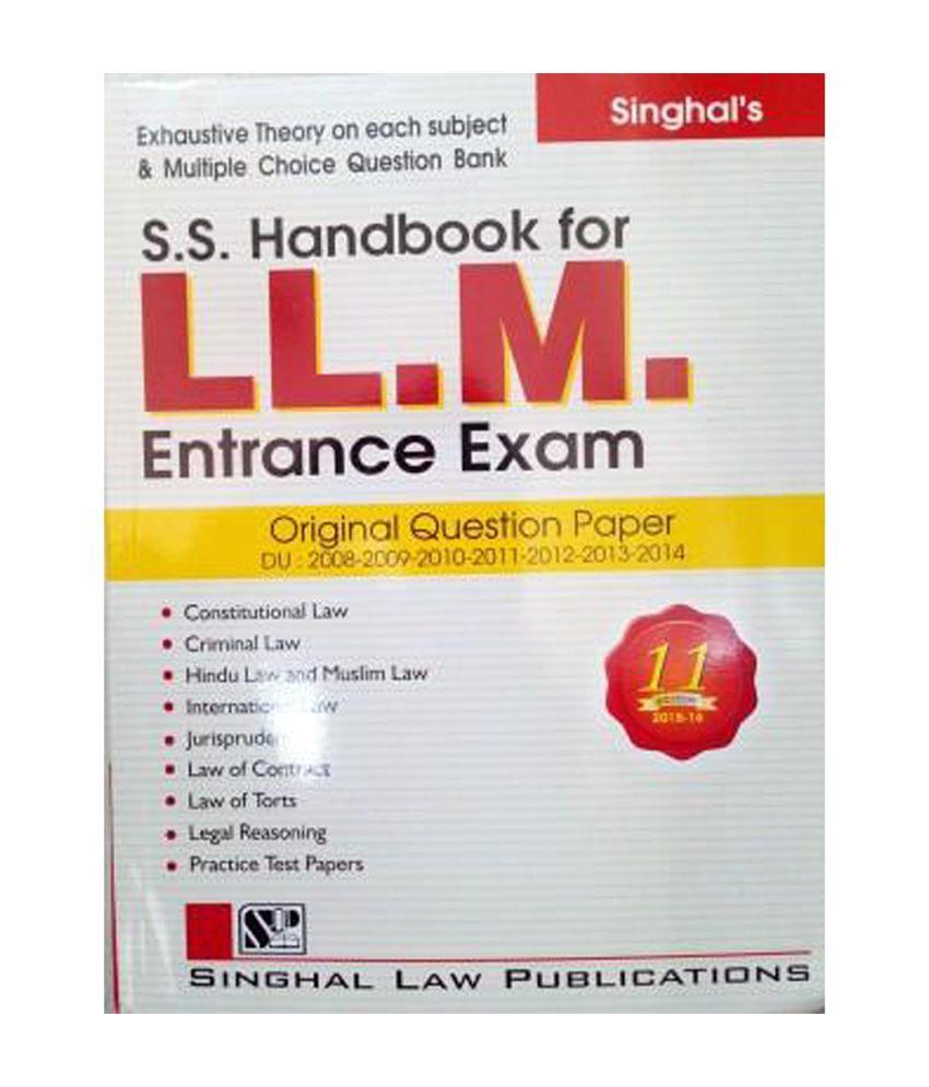 Handbook for Llm Entrance Exam