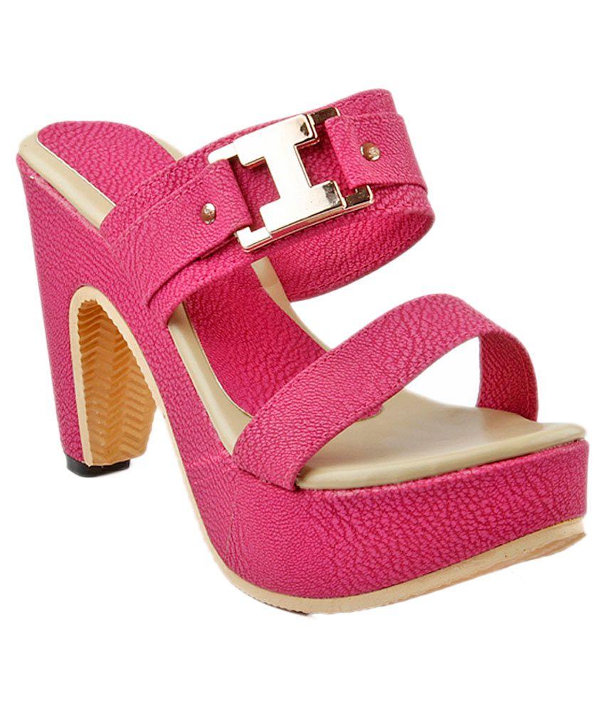 Hansx Pink Cone Heels