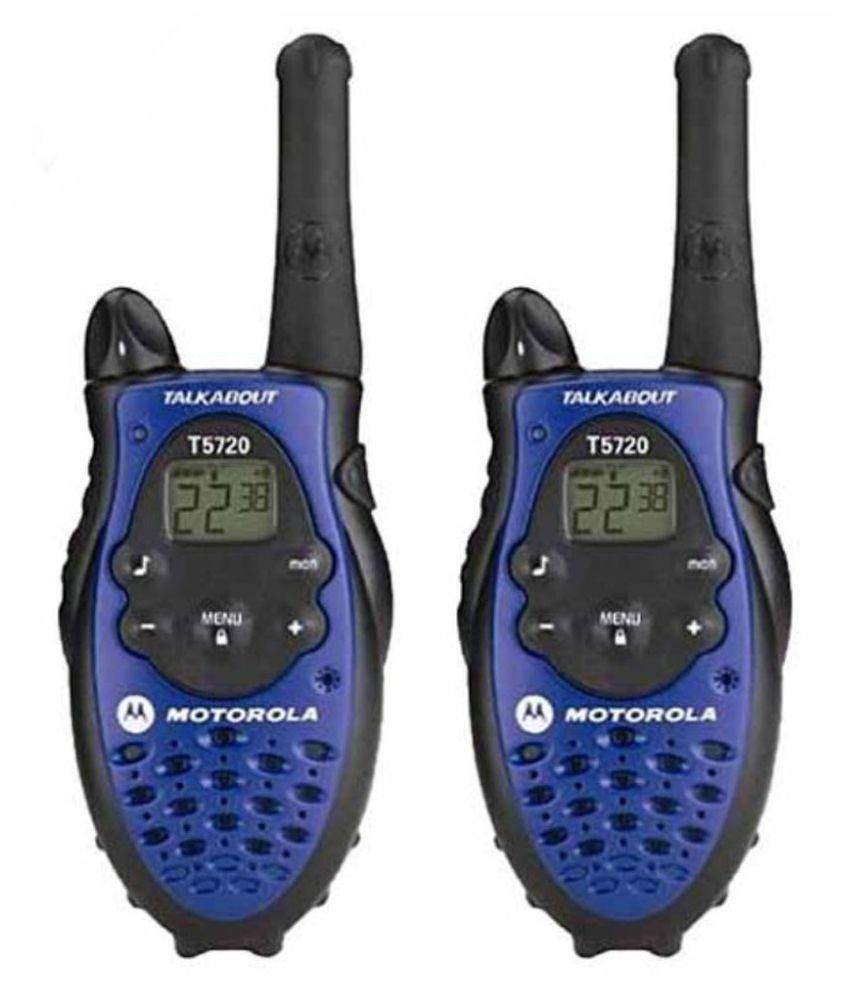 Motorola blue t 5720 walkie talkie set of 2 price in - Oreillette talkie walkie motorola ...