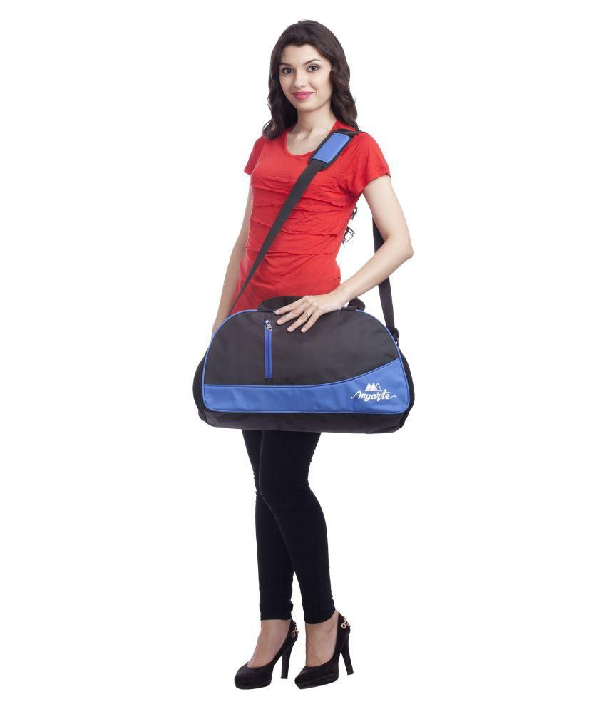 Myarte Bigbang Unisex Gym Bag Blue 30 Litres