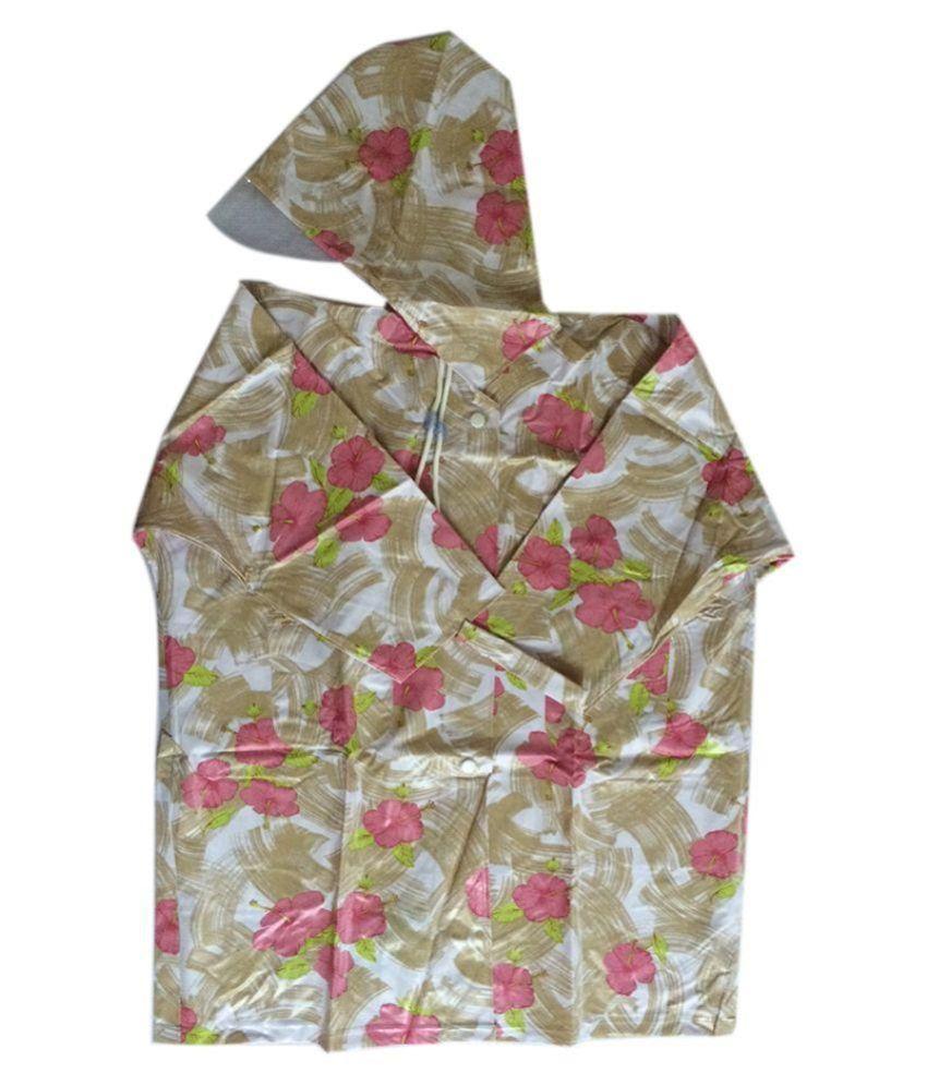Rayhan Enterprise Multicolour Nylon Rainwear for Girls - Pack of 2
