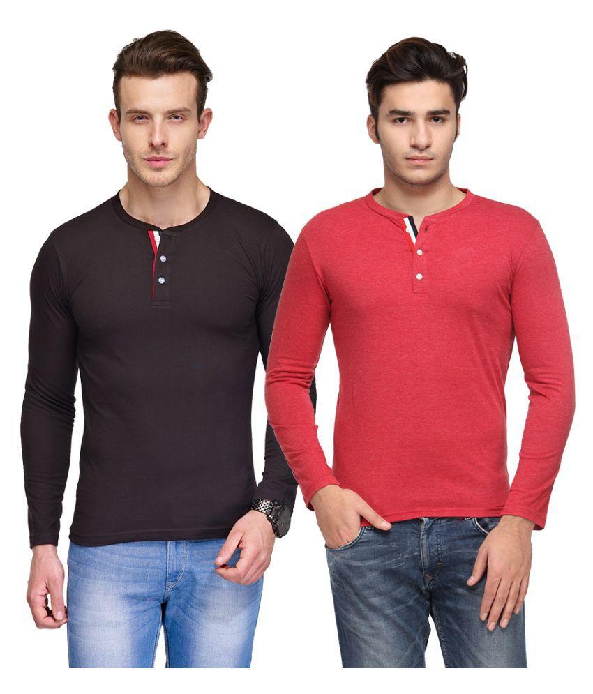 TSX Multi Henley T Shirt Pack of 2