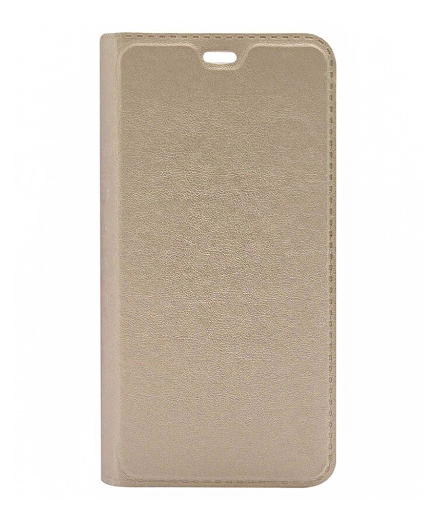 WiittyOwl Flip Cover ForLava A67  Gold   available at SnapDeal for Rs.299