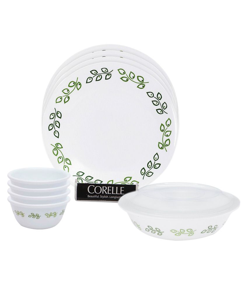 Corelle India Impressions Neo Leaf 10 Pieces Dinner Set Buy Online At Best P