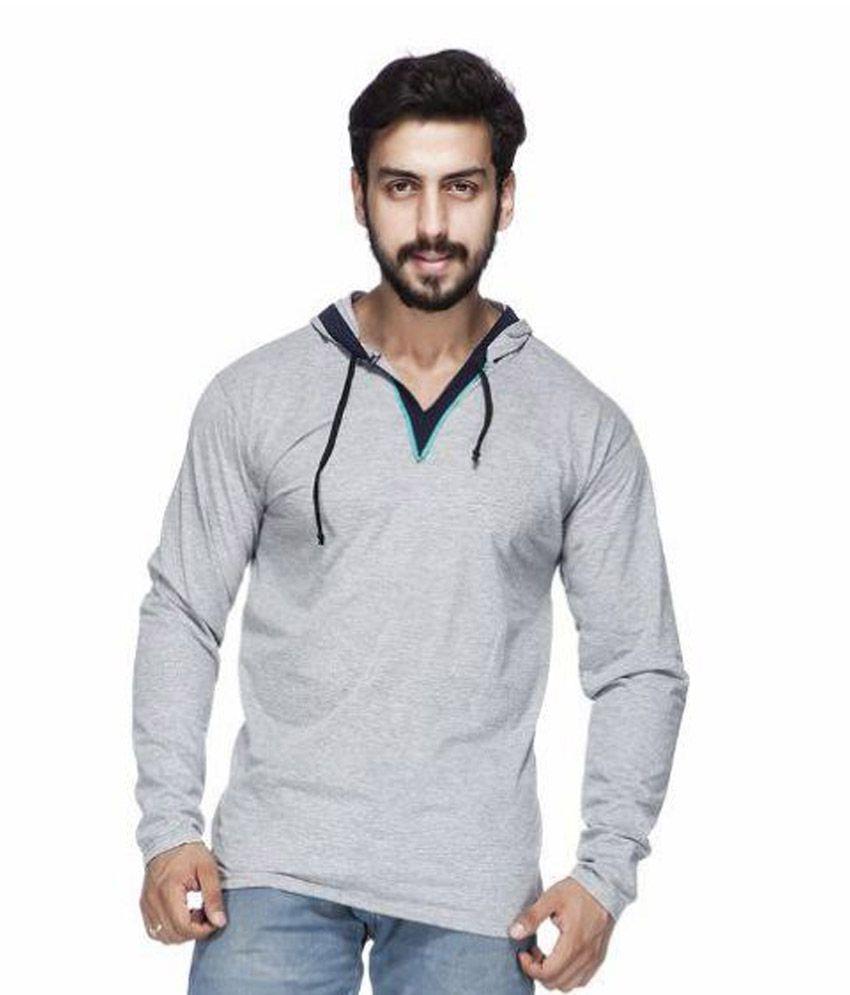 Demokrazy Grey Hooded T Shirt