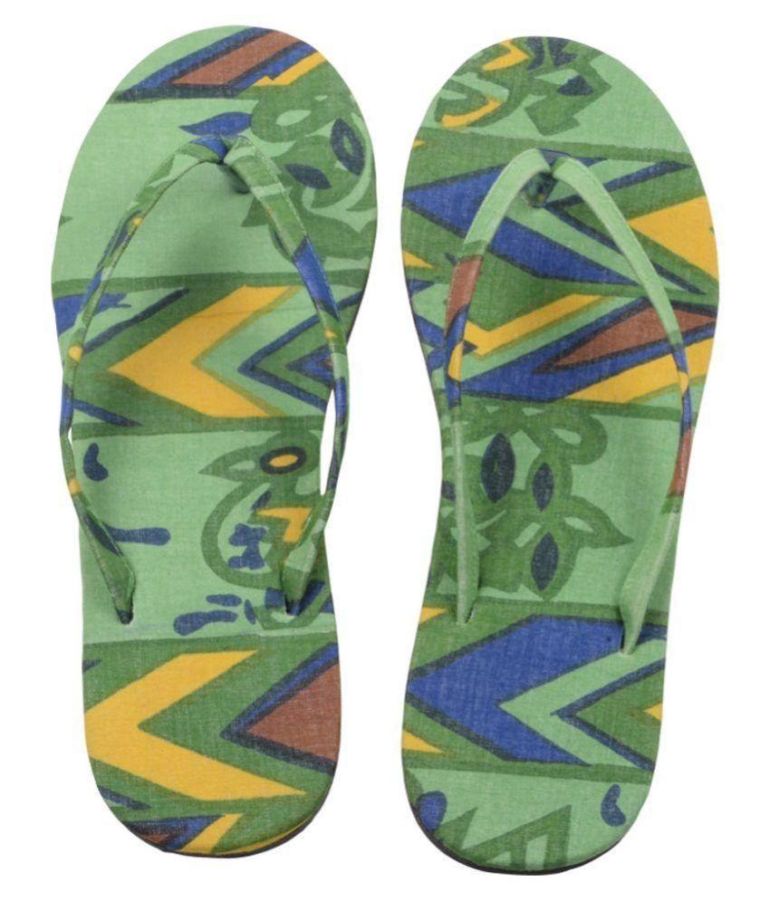 Hve Green Slippers
