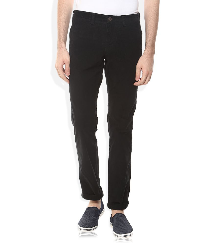 Indian Terrain Black Slim Fit Chinos
