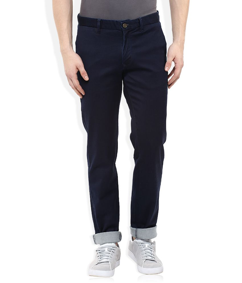 Indian Terrain Navy Slim Fit Chinos