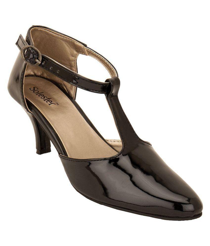 Solester Black Stiletto Heels
