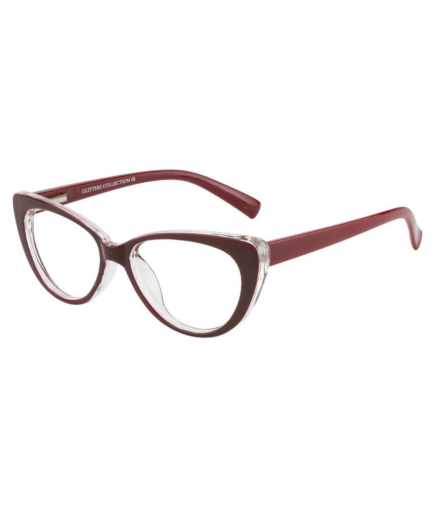 Glitters Red Cateye Spectacle Frame ( B1212C5 )