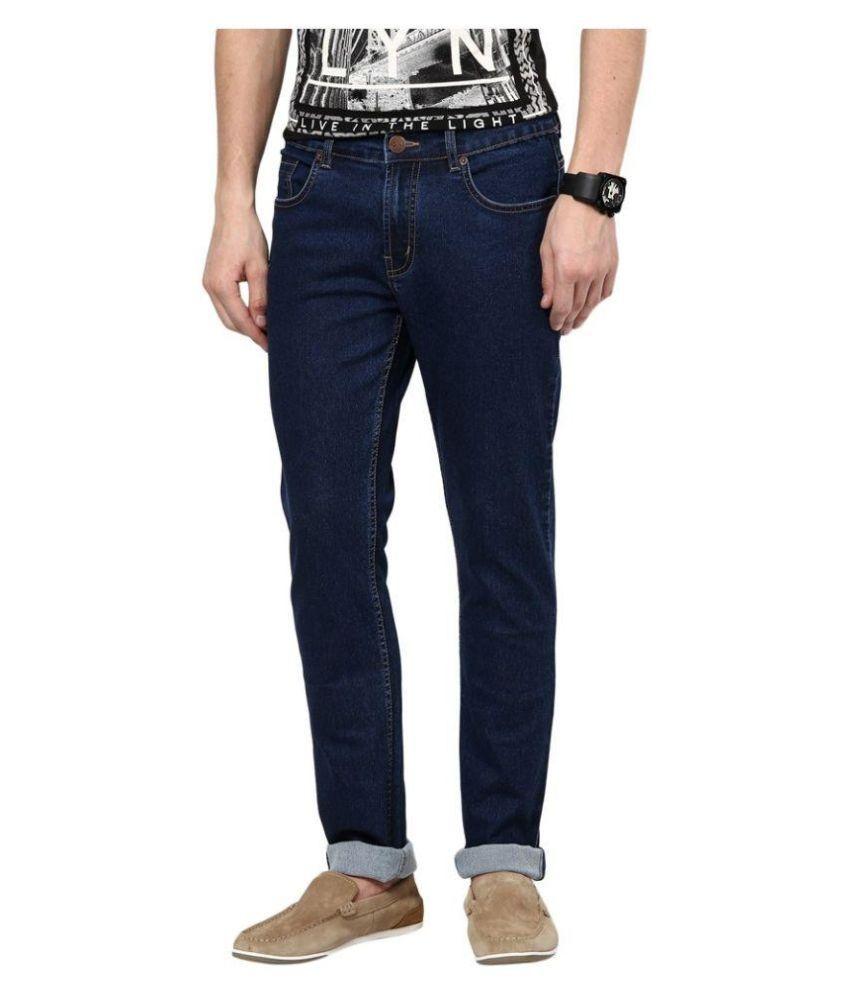 Paul Collins Blue Slim Fit Solid Jeans