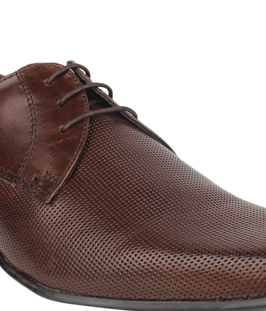 Red Tape Brown Derby Genuine Leather Formal Shoes Price In India