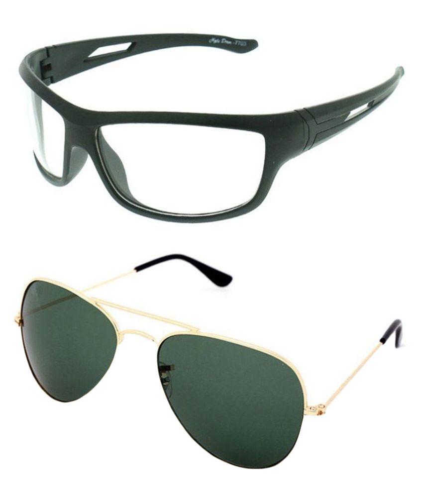 Elligator Multicolor Aviator Sunglasses ( NTVSNC_1 ) - Set of 2