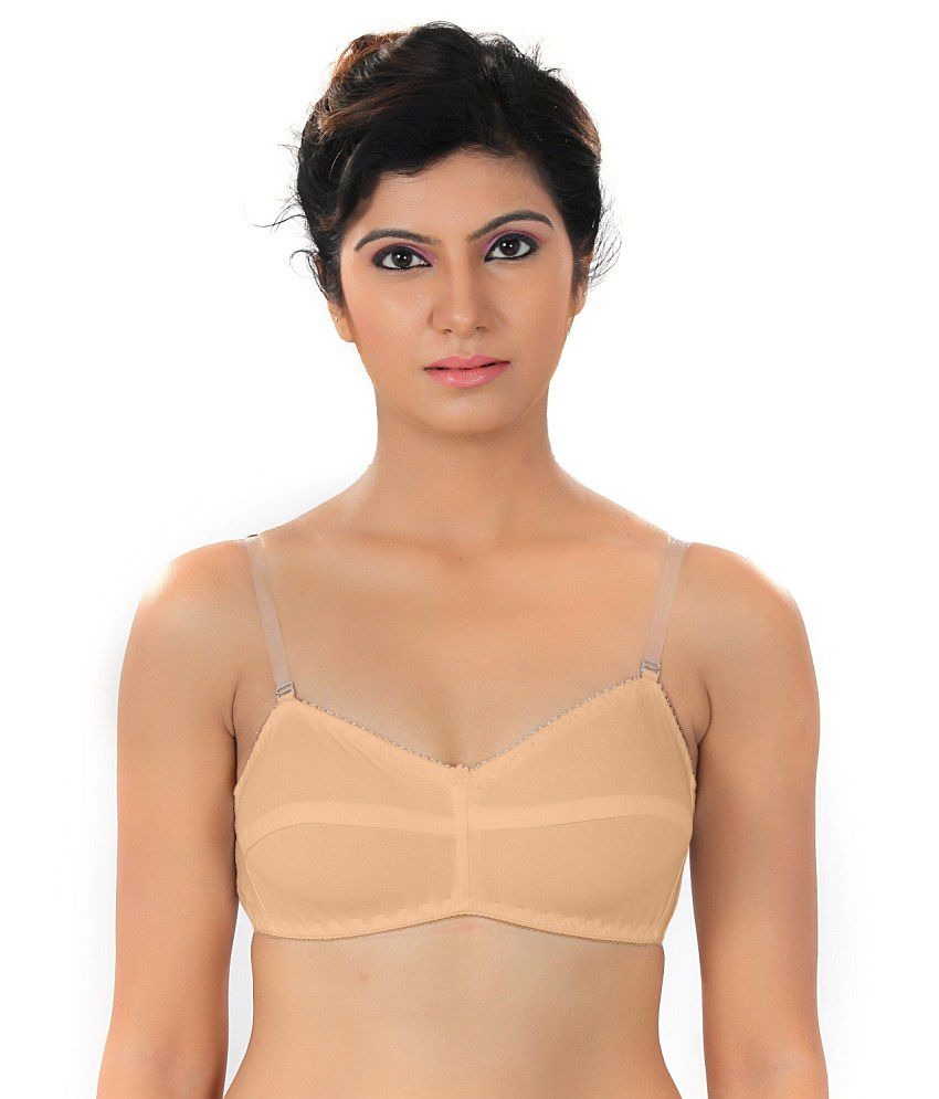 65c9917db6 Buy Fabme Non Padded Skin color Transparent Strap T-shirt Bra Online at  Best Prices in India - Snapdeal