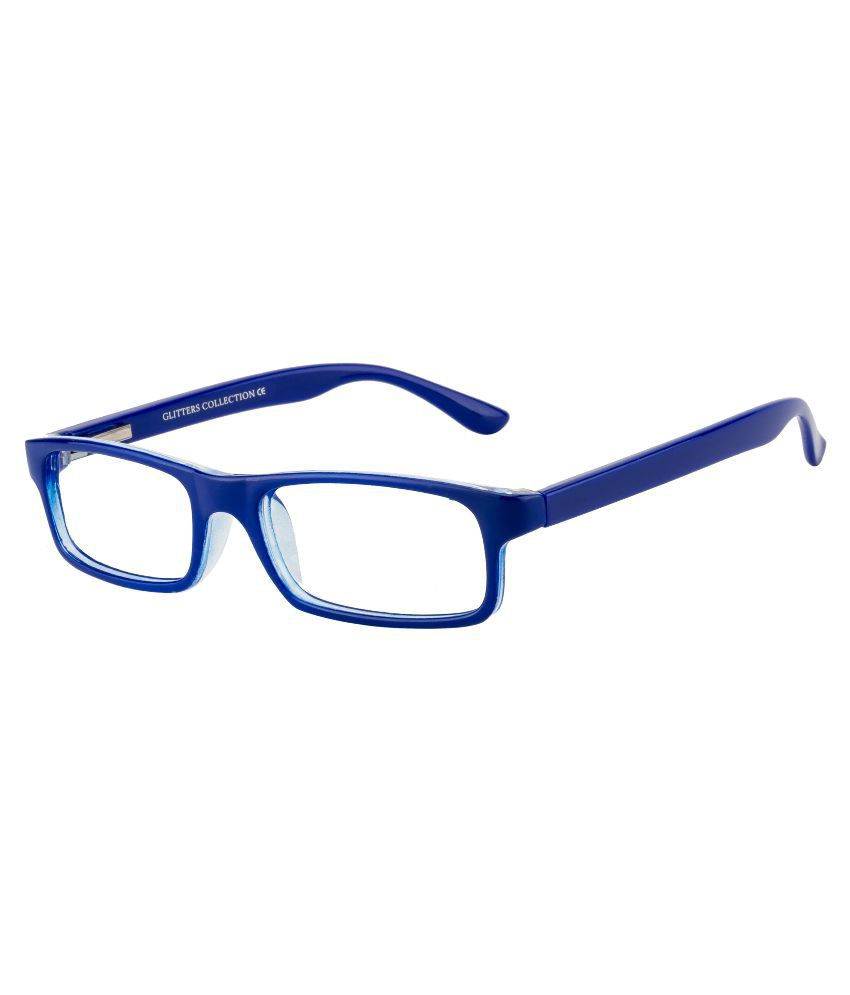 Glitters Blue Rectangle Spectacle Frame ( B1214C6 )