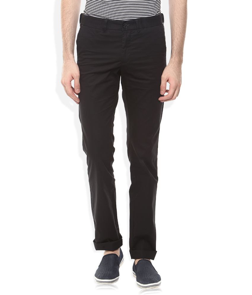 Indian Terrain Black Slim Chinos Trouser