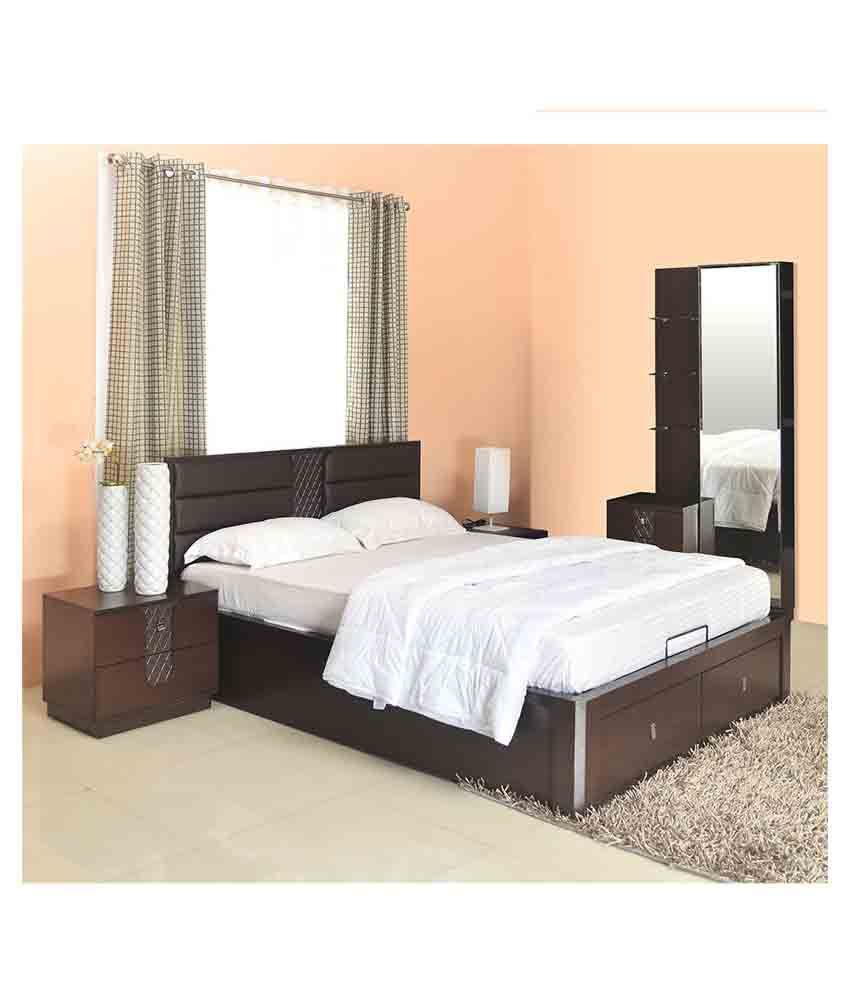 @home By Nilkamal Triumph Storage Queen Size Bedroom Set