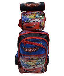 Tasni Multicolour Fabric School Trolley Bag