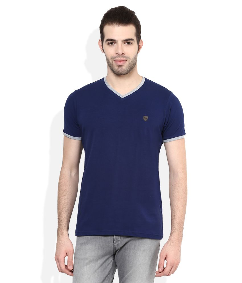 Cloak & Decker by Monte Carlo Navy V-Neck Solids T
