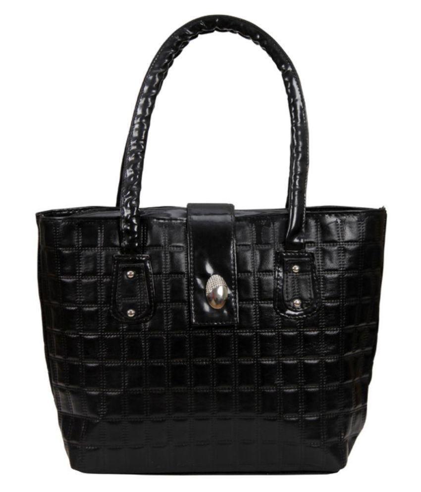 I2V Black Synthetic Shoulder Bag