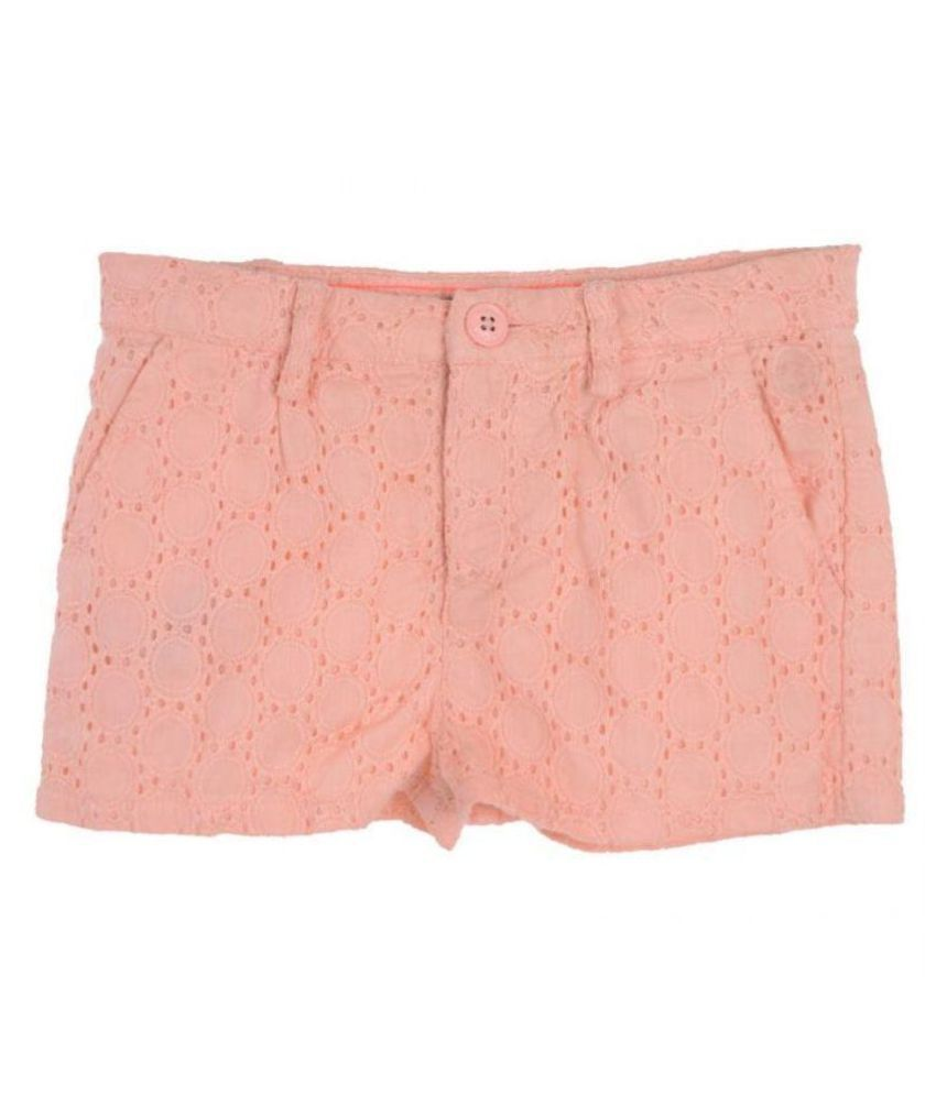 Joy N Fun PeachPuff Shorts For Girls