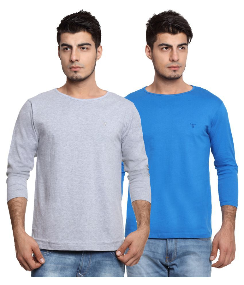 Youthen Multi Round T Shirt Pack of 2